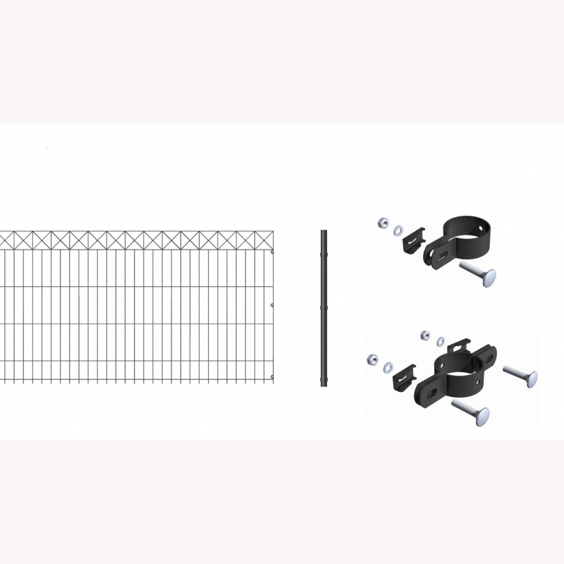 10 meter komplett set zaun nexus h he 75cm anthrazit 504 00. Black Bedroom Furniture Sets. Home Design Ideas
