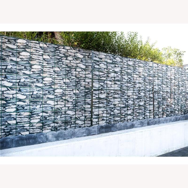 pvc sichtschutz stein mediterano 26 m rolle 113 40. Black Bedroom Furniture Sets. Home Design Ideas
